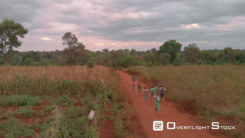 School Children Rural Kenya Africa