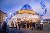 Entrance to the White Magic Christmas Market