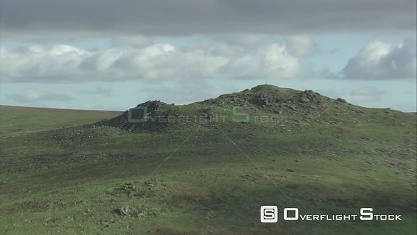 Aerial view of Hare Tor, Dartmoor National Park, Devon, England, UK, October 2015.