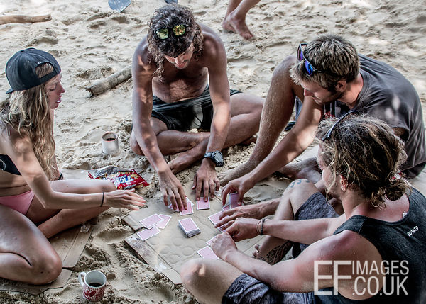 Playing Cards On A Tropical Beach
