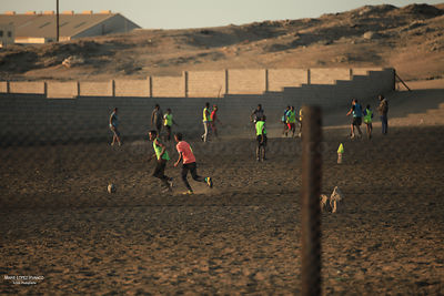 Football à Luderitz, Namibie