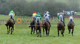 Jockeys at the 2m4f start - The Woodland Pytchley at Dingley 26/3