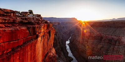 Panoramic of Grand Canyon at sunrise, Arizona, USA