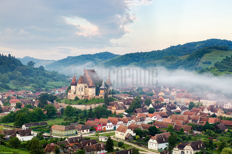 Early Morning Fog in the Town of Biertan