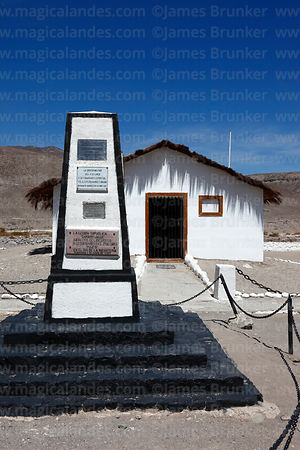 Monument on site of Battle of Tarapacá, Region I, Chile