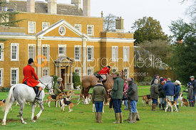 Goadby Hall - The Belvoir Hunt at Goadby Hall 24/12