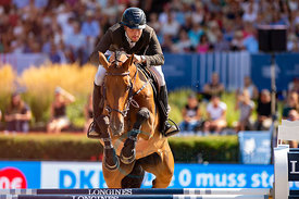 29/07/18, Berlin, Germany, Sport, Equestrian sport Global Jumping Berlin - Championat der DKB von Berlin -   Image shows BLUM...