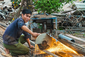 Vietnamese Construction Worker