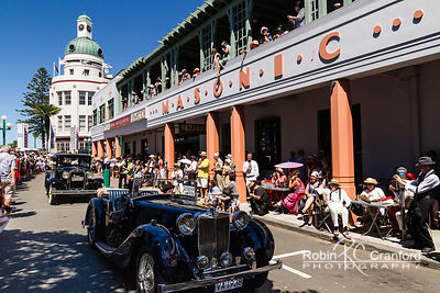 Art Deco Saturday 2012 - Vintage Car Parade.  License Plate = VA 1938 & MODAL A