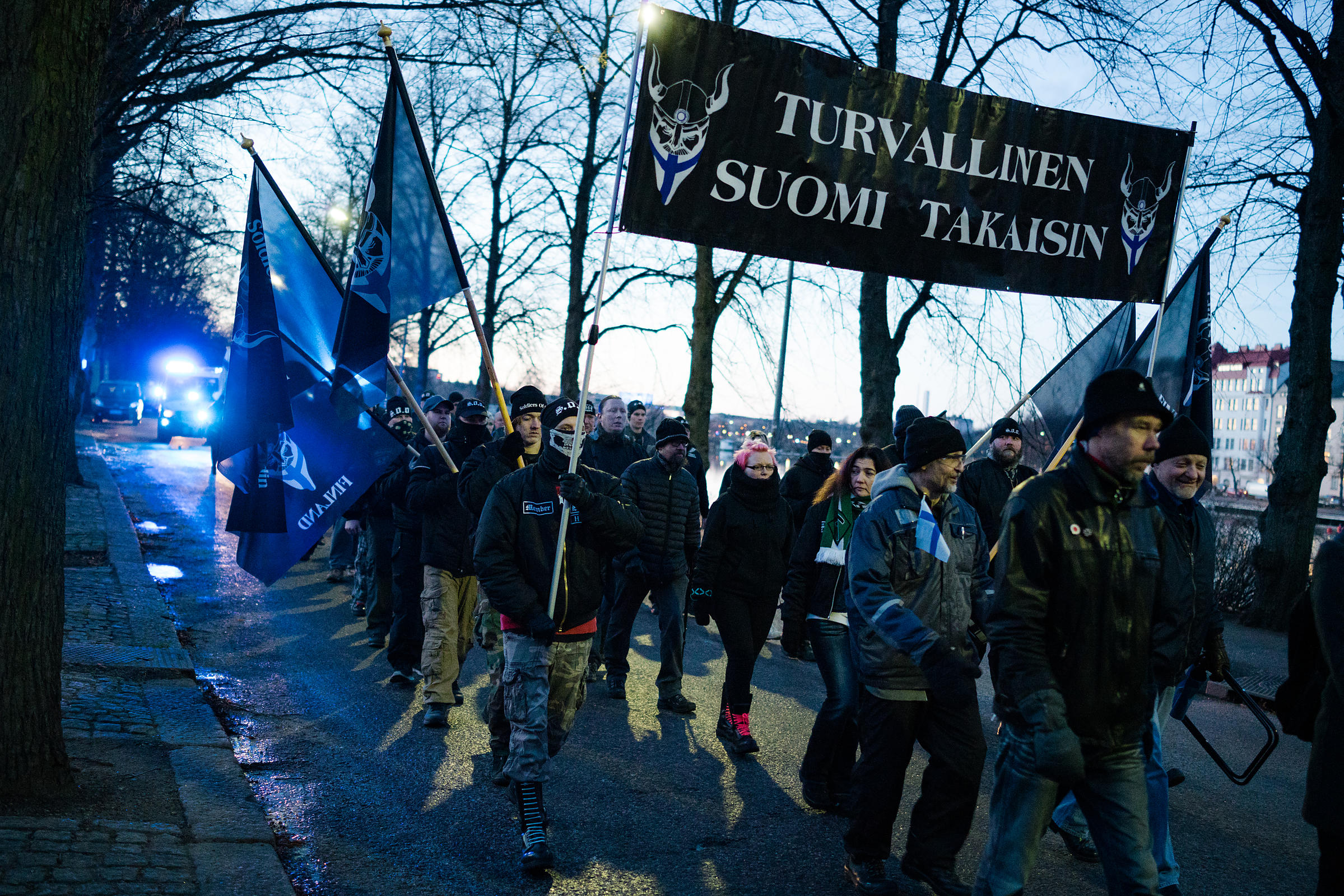 In addition to the Nordic Resistance Movement, 'Soldiers of Odin', an anti-immigrant neighborhood watch group was prominently...