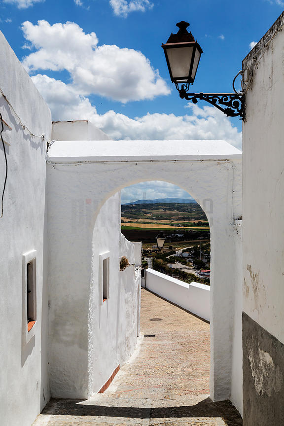 Typical Moorish Andalucian White Town