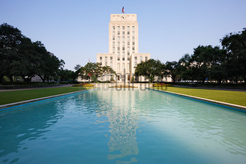 Facade of a city hall, Houston City Hall