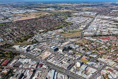 Dandenong with Seaford in background. Australia