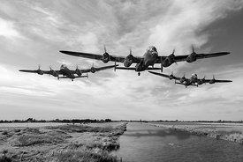 Dambusters practising low level flying BW version