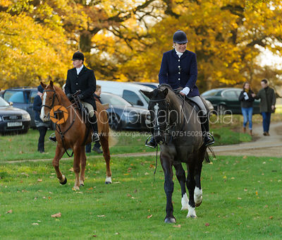 At the meet - The Oakley and Fitzwilliam Hunts, Milton Park 30-11