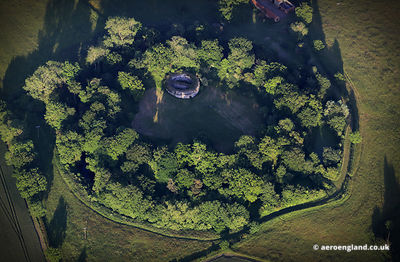 aerial photograph of  Buckenham Castle