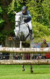 Bill Levett and SILK STONE - Cross Country phase, Mitsubishi Motors Badminton Horse Trials 2014