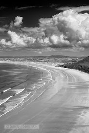 Rhossili Bay, Gower Peninsula, Wales - BP3594BW