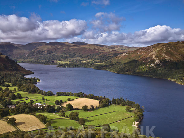 Ullswater lake, lake district national park, UK
