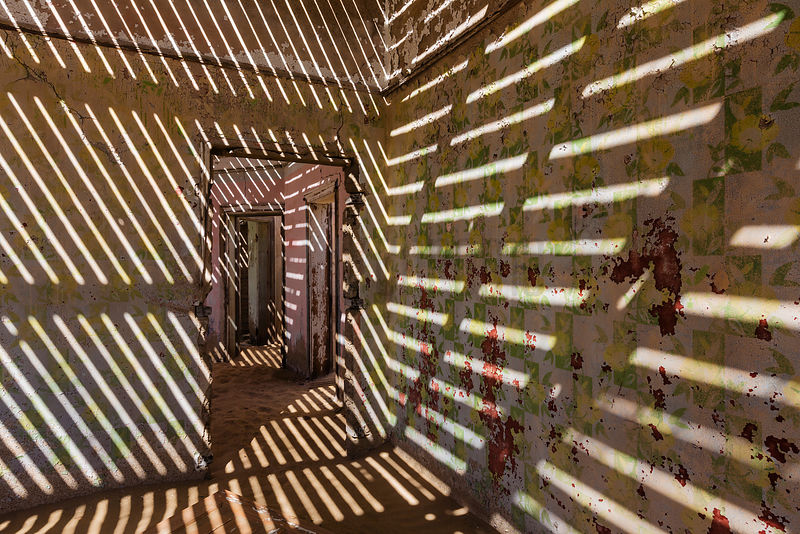 Sunlight through Roof Slats in Abandoned House