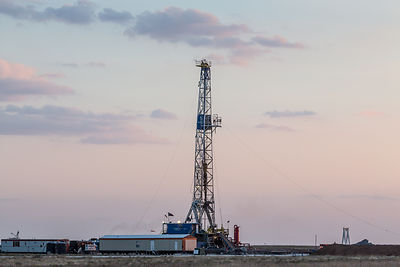 Drilling Rig at Sunset