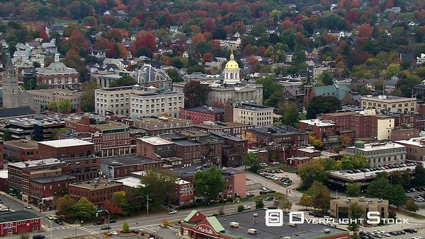 Flight past Capitol Building in Concord, New Hampshire