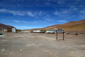 Goods wagons in station at Ascotan, Region II, Chile
