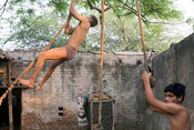 Khusti Wrestlers In New Delhi India