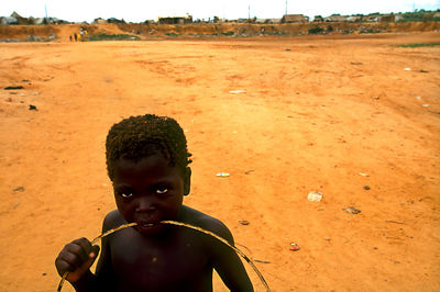 Angola - Luanda - A child in the IDP camp near Viana
