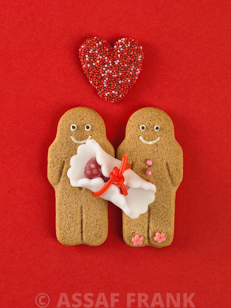 Gingerbread family with a baby