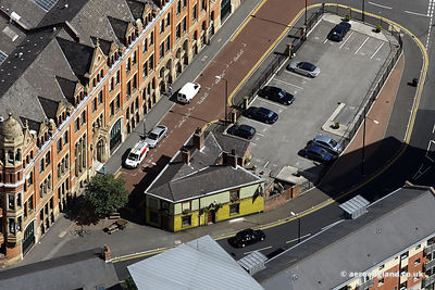 aerial photograph of  the The Peveril of the Peak pub in Manchester