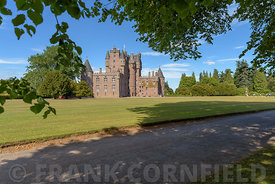 View of Glamis Castle in Scotland. Glamis Castle is situated close to the village of Glamis in Angus. It is the home of the E...