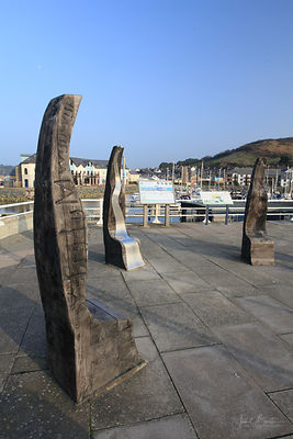 Spirit of the Miners sculpture, Aberystwyth harbour