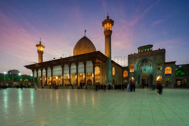 Holy Shrine of Shah-e-Cheragh at Dusk