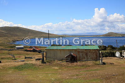 Old farm building at Carcass Settlement, Carcass Island, Falkland Islands
