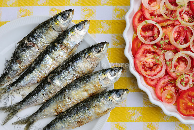 Grilled sardines, a delicacy. Setúbal, Portugal