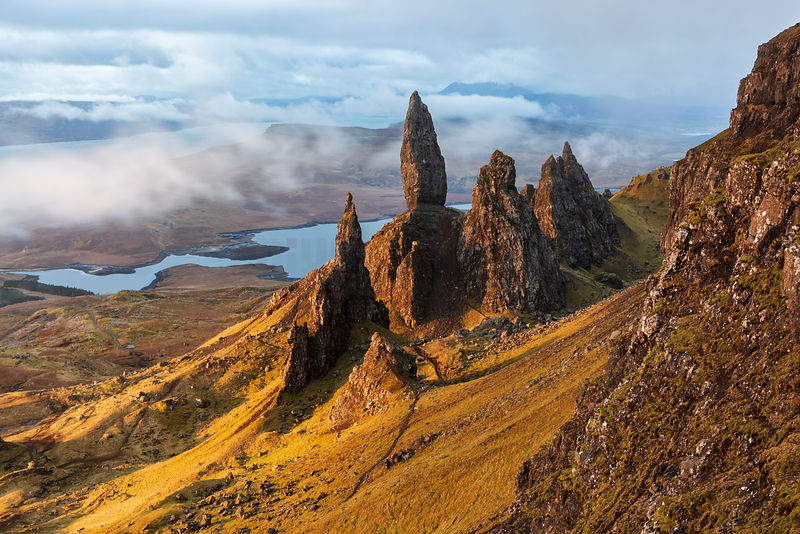 Sunrise over the Old Man of Storr on the Isle of Skye