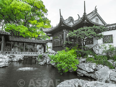 A view of a charming and peaceful landscape at Yu Garden Shanghai.