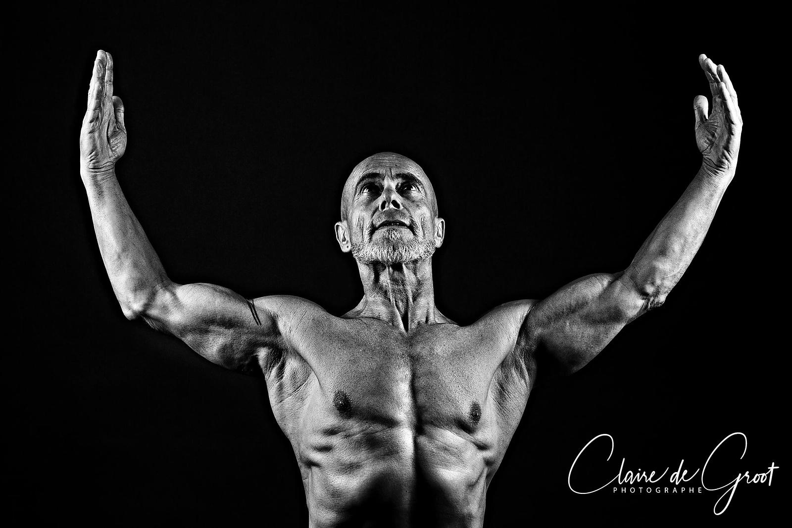 Studio Sports Portrait of a bodybuilder