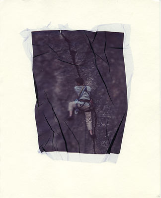 Polaroid lift - climber in crack in Rock Canyon, Utah