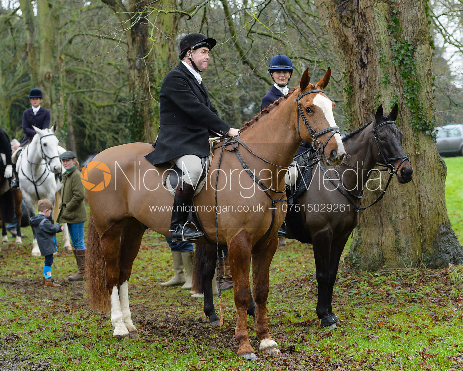 Martin Willcox, Justine Smiley-Jones at the meet at Buckminster
