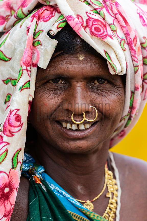 Portrait of a Woman from the Paraja Tribe