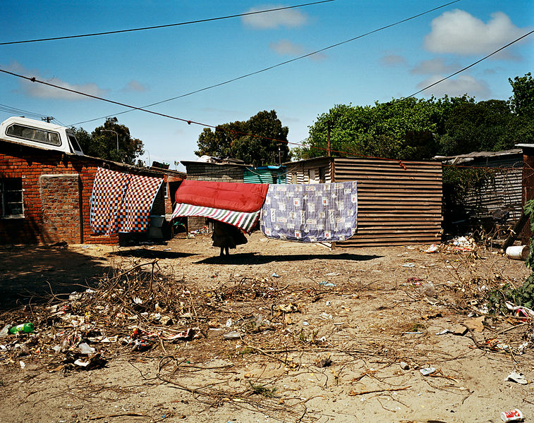 Washing line, Gugulethu, Cape Town, South Africa
