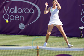 Kristyna Pliskova (CZE) wins against Timea Babos (HUN) the first round at the Mallorca Open 2017 in Santa Ponsa - Mallorca