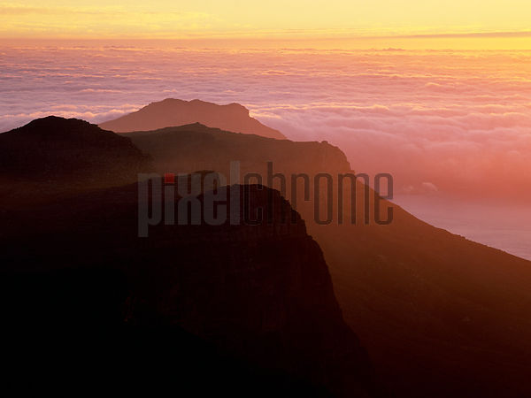 Sunset over Twelve Apostles from the Top of Table Mountain