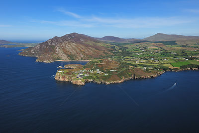 Aerial view of the Urrish Hills, East shore, Lough Swilly, County Donegal, Republic of Ireland, September 2009