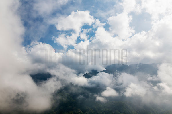 Mountain Scenery and Clouds Around Sapa
