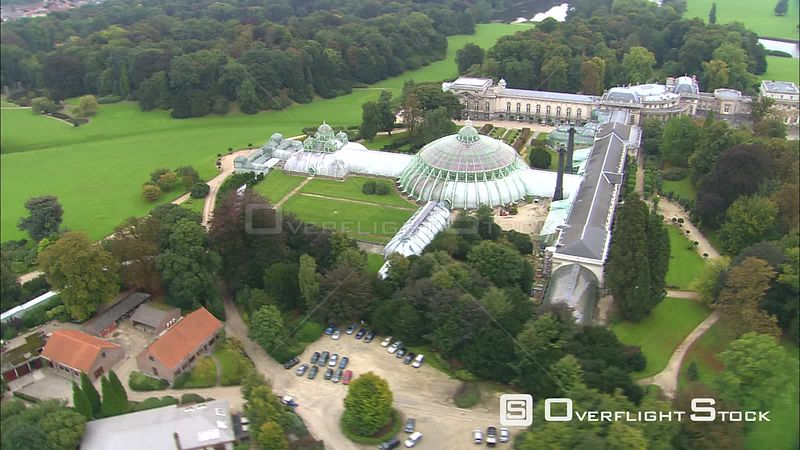 Orbiting greenhouses at the Royal Palace of Laeken, Belgium