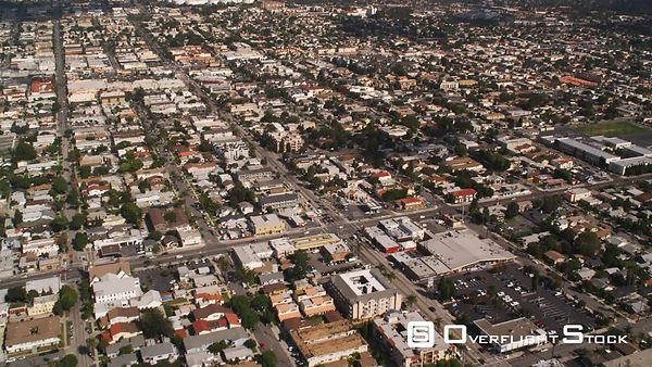 Flying Over Residential Area in Long Beach, California.