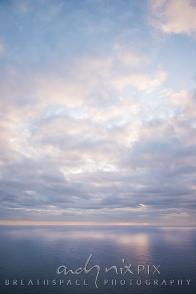 Soft clouds over the ocean.